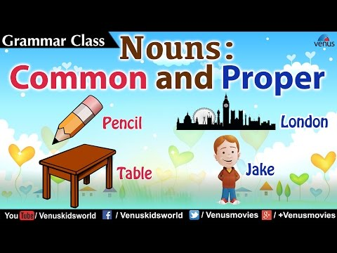 Grammar Class ~ Nouns : Common and Proper (Examples)