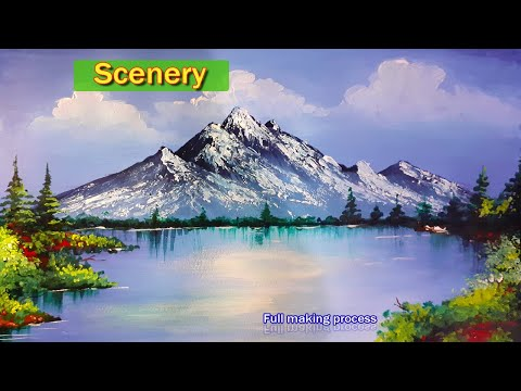 Watercolour Scenery Painting Tutorial | Easy | Full Making Process | Landscape | Prateek Sinha | Art