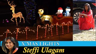 Christmas Lights Vlog in Tamil | Yard decorations near our house | Steffi Ulagam