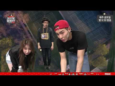 "Monsta X Shownu & IZONE Chaeyeon ""DDU DU DDU DU"" dance"