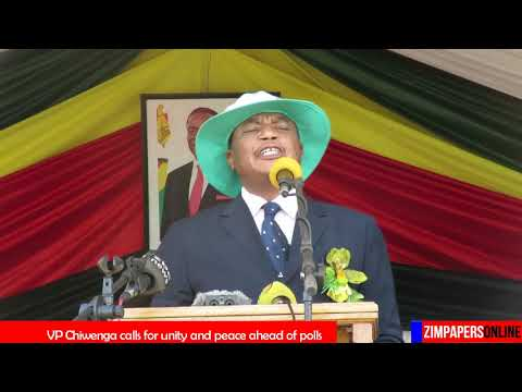 Vice President Chiwenga calls for unity and peace ahead of Zim polls