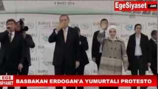 Başbakan Erdoğan'a Urfa Suruç'ta Yumurtalı Protesto