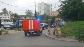 Кандидат Тетерин ездит на встречи с избирателями на пожарной машине