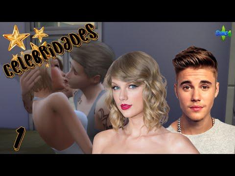¡JUSTIN BIEBER BESA A TAYLOR SWIFT!   Celebridades #1   Los Sims 4