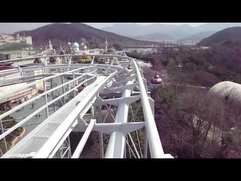 에버랜드 한국 Rolling X-Train POV Everland South Korean Roller Coaster