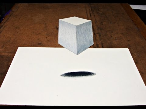 How to Draw 3D Cube Illusion - YouTube