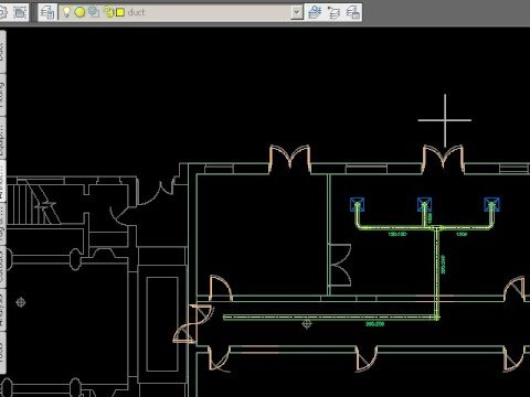 Drawing HVAC systems using Autocad MEP - YouTube