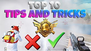TOP 10 TIPS & TRICKS THAT WILL ACTUALLY SAVE YOUR LIFE | PUBG MOBILE