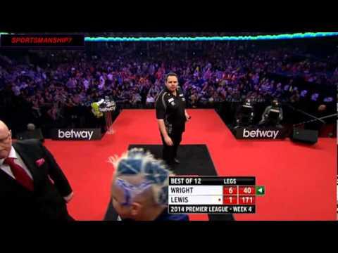 Peter Wright v Adrian Lewis - Poor Sportsmanship? You Decide