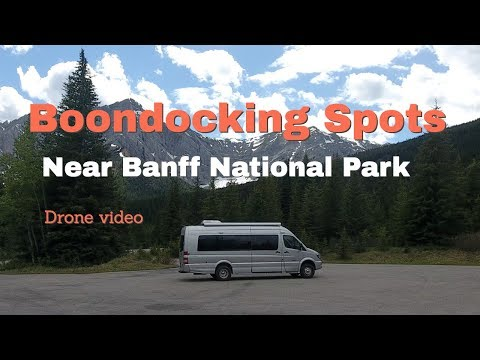 Drone Video Of RV Camping Locations Near Banff National Park