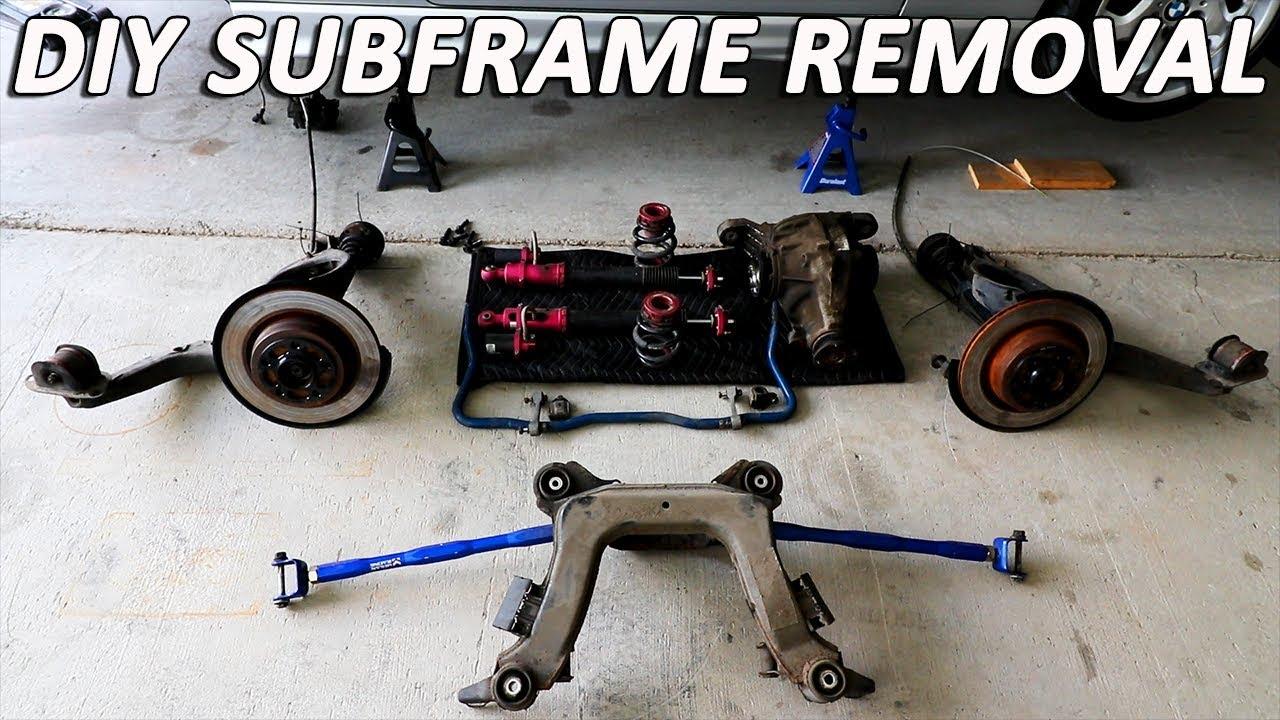 e36 m3 subframe removal
