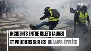 Champs-Elysées : premiers incidents entre