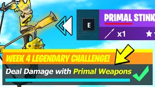 Primal Weapons LOCATIONS & Deal Damage with Primal Weapons - Fortnite