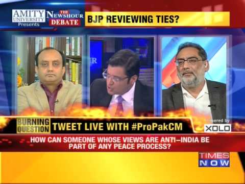 The Newshour Debate: Backing Mufti Too Risky? BJP Still Silent - Part 2 (10th March 2015)