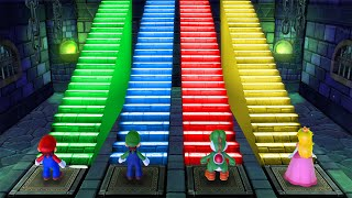 Mario Party 10 MiniGames - Luigi Vs Mario Vs Yoshi Vs Peach (Master Cpu)