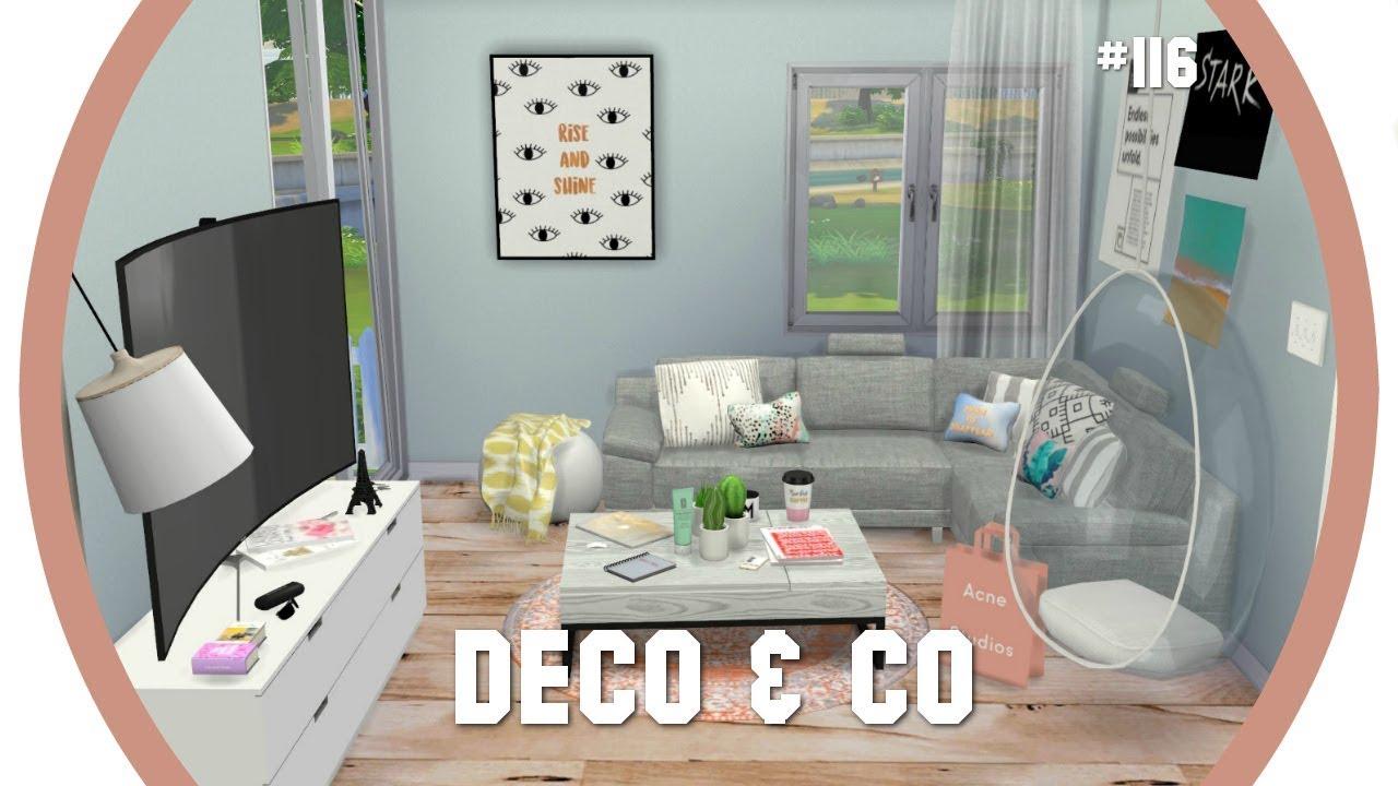 Les sims 4 deco co 116 maison coloree et familiale for Deco appartement sims 4