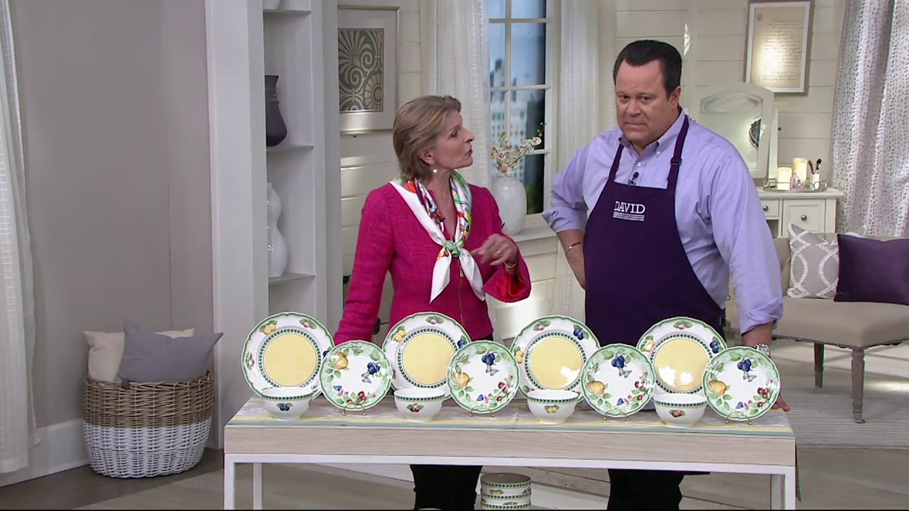Villeroy & Boch French Garden 12-Piece Porcelain Dinnerware Set on .