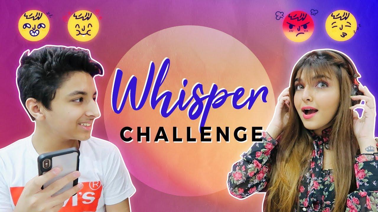 WHISPER CHALLENGE W/ MY BROTHER | Ashi Khanna