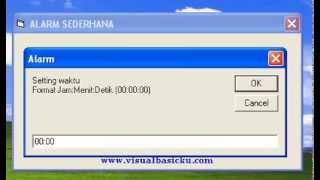 Membuat Alarm Jam dengan Vb 6 - Demo Belajar Visual Basic 6.0  -