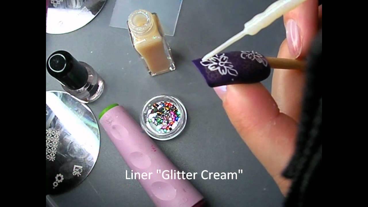 stamping nail art sur vernis plumy
