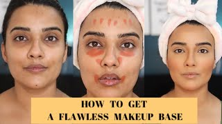 HOW TO GET A PERFECT FLAWLESS MAKEUP BASE | STEP BY STEP IN DETAIL