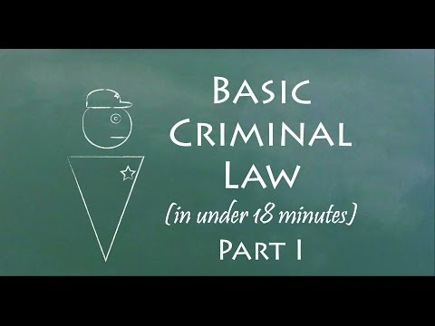 Understand Criminal Law in 18 Minutes (Part I)