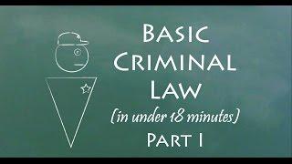5 Minutes of Knowledge - Basic Criminal Law I