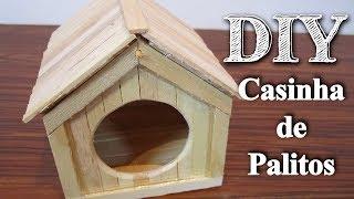 Construindo uma Casinha de Palitos - Casinha para hamster #1  AnimalPetFans