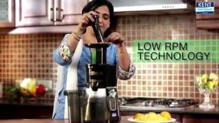Cold Pressed Juicer: Fruit & Vegetable Juicer Machine | Kent Demo Video