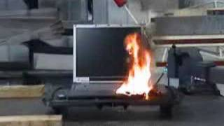 Laptop Battery Fire