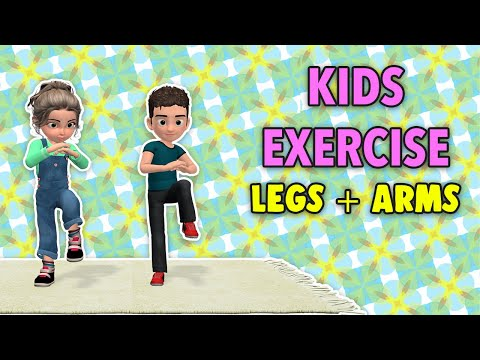 Legs + Arms Kids Exercise At Home