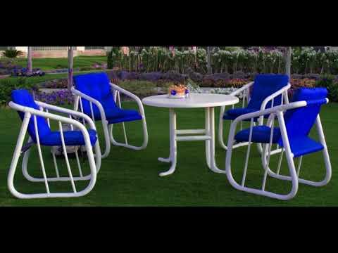Elegant pvc patio furniture design