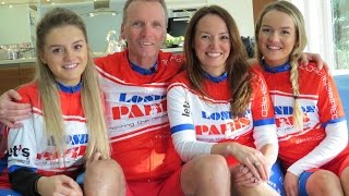 Geoff Thomas & family ready for London 2 Paris
