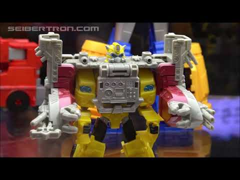 Transformers Cyberverse and Rescue Bots toy products shown at SDCC 2019