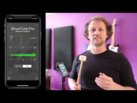 Music Instrument Vibration - Tuning Fork example with iDrumTune Pro drum tuner app
