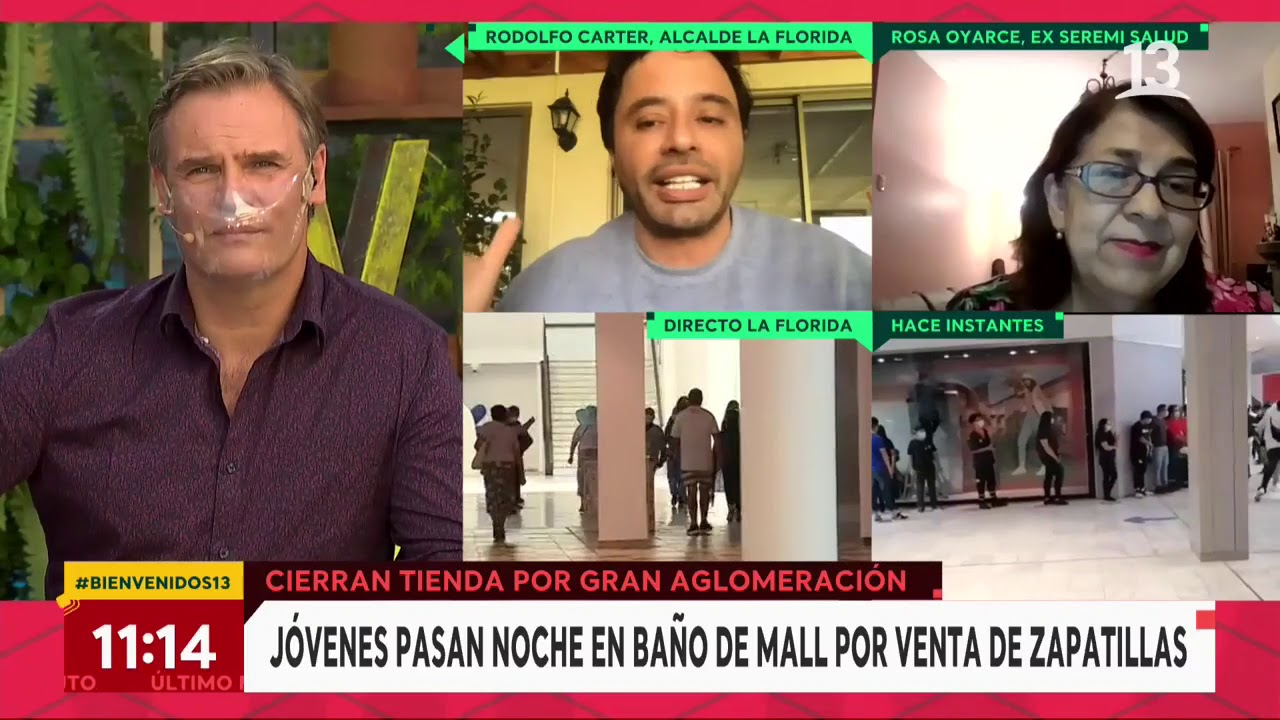 Rodolfo Carter se refiere a aglomeraciones en mall de su comuna | Bienvenidos