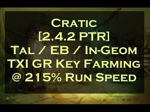 [2.4.2] TXI Tal EB GR Key Farming @ 215% Run Speed!