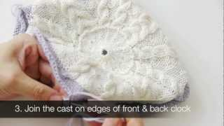 How To Make A Knitted Clock - Assembling Quartz Clock Movement