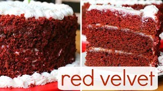 vegan red velvet cake w cream cheese frosting