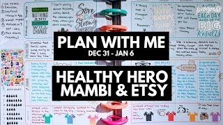 Planner life: healthy hero plan with me dec 31 - jan 6 (mambi & etsy stickers)