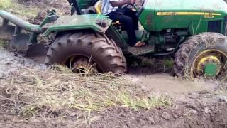 Muddy field tractor failure