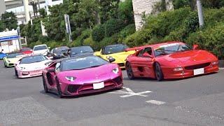 【大黒PA】CCX他 スーパーカー加速サウンド/Supercars sound in Japan. CCX, SL65 BS, Vanquish ZAGATO, Aventador and more!