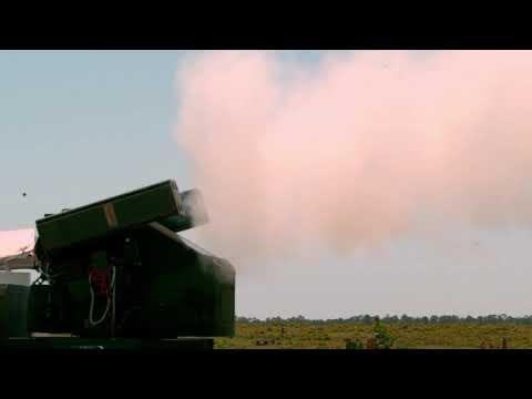 Stinger missiles with proximity fuzes destroy UAVs