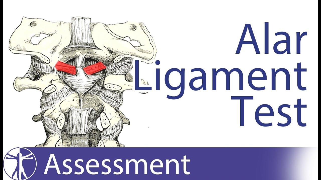 Alar Ligament Stress Test | Upper Cervical Spine Instability - YouTube