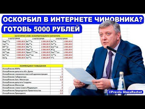 За оскорбление чиновников в интернете грозит штраф, или арест на 15 суток | Pravda GlazaRezhet