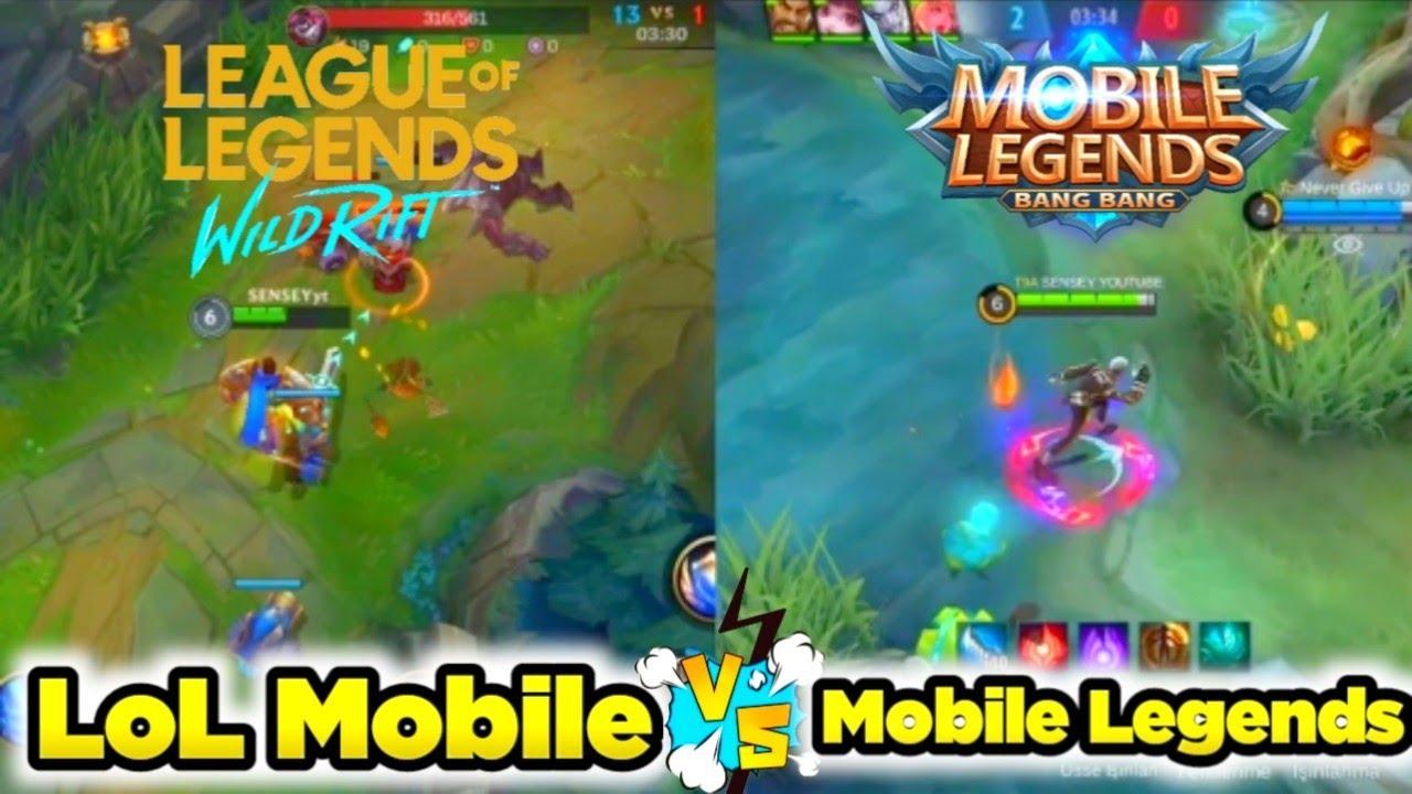 LoL Mobile OYNANIŞ VS MOBİLE LEGENDS OYNANIŞ / FULL AYAR HANGİSİ DAHA İYİ??