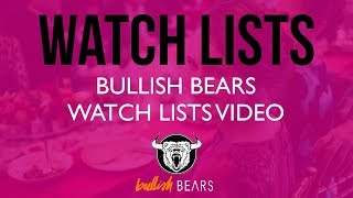 Stock Watch Lists - Bullish Bears Stock Watch List 6-12-2018