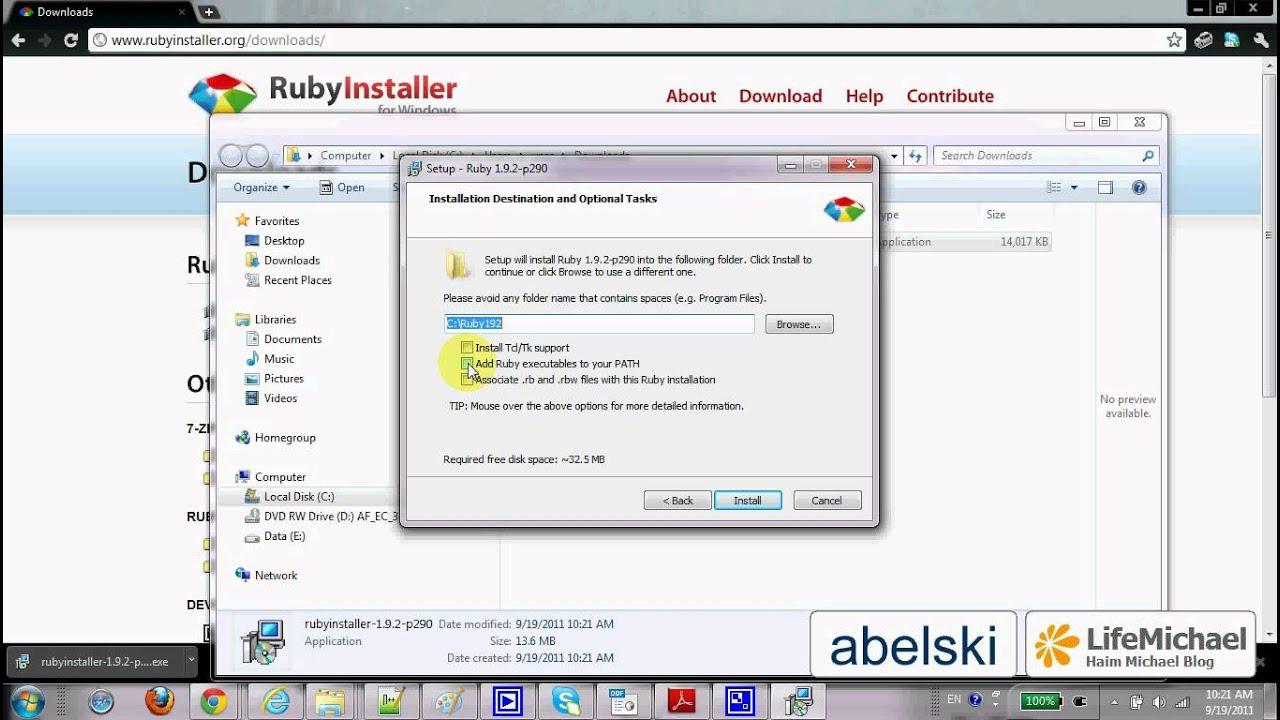 Installing Ruby on Windows