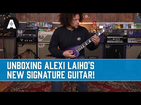 Unboxing Alexi Laiho's NEW Signature Guitar! - ESP E-II Alexi Ripped