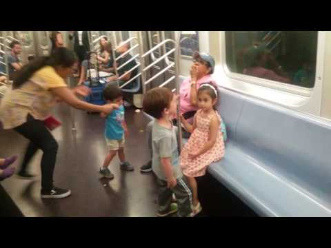 Kid's Time aboard a Slow Moving NYC Q Subway train